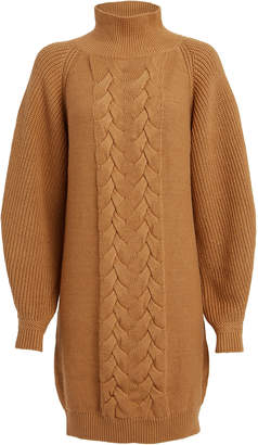 Caroline Constas Cable Knit Wool-Blend Sweater Dress