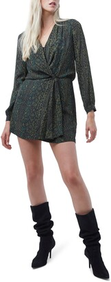 French Connection Ariel Drape Knot Long Sleeve Minidress