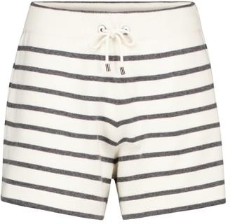 Brunello Cucinelli Striped wool, cashmere and silk shorts