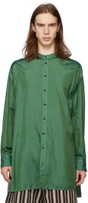 Jil Sanderand Green Canvas Packaway Shirt