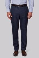 Moss Esq. Regular Fit Indigo Sharkskin Pants
