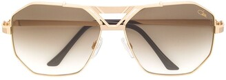 Cazal Angular Aviator Sunglasses