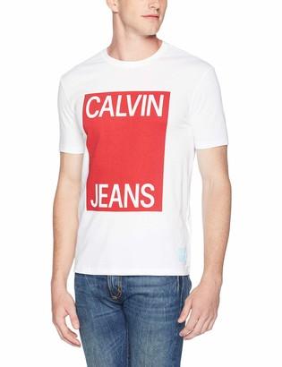 Calvin Klein Men's Fashion Logo Short Sleeve Crew Neck T-Shirt