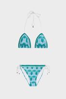Missoni Pizzo Lam-Knit Triangle Bikini