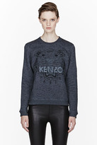 Kenzo Charcoal Embroidered Tiger Sweater