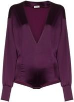 ATTICO The satin bodysuit