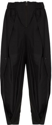 Issey Miyake High-Waisted Wide-Leg Trousers
