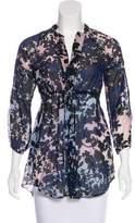 Diane von Furstenberg Silk-Blend Printed Tunic