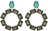 Tory Burch Stone Wreath Statement Drop Earrings
