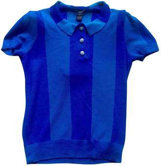Louis Vuitton Blue Cashmere Top for Women