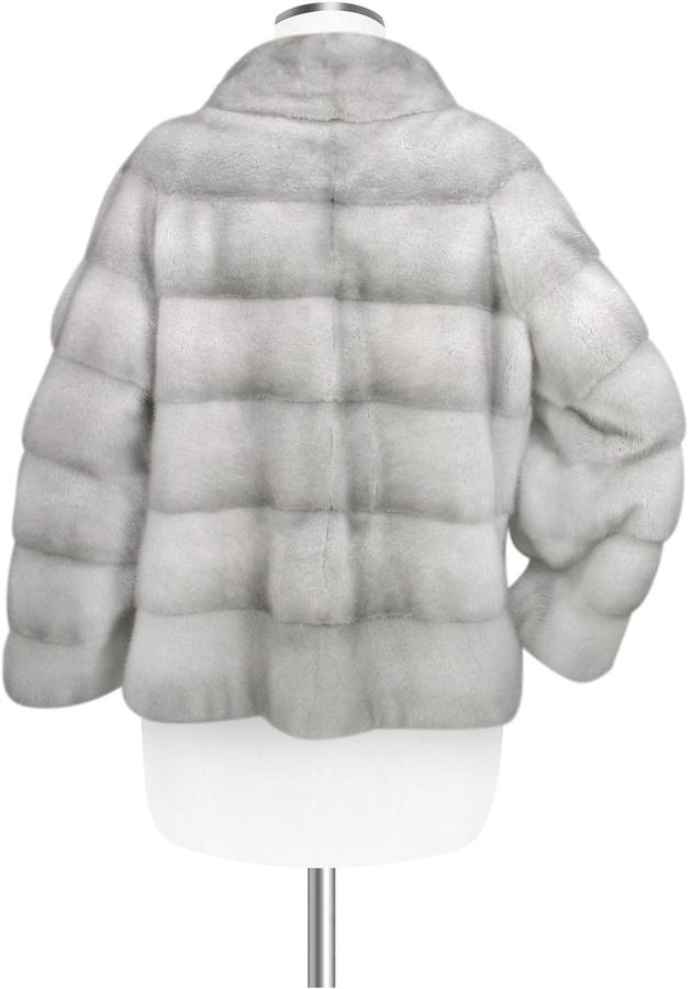 Forzieri Ultimate Luxury Collection Gray Mink Fur Jacket