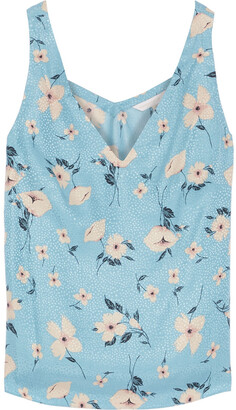 Rebecca Taylor Floral-print Silk-blend Satin-jacquard Camisole