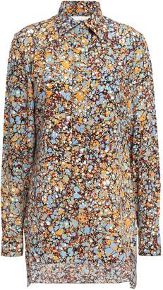 Victoria Beckham Printed Silk Crepe De Chine Shirt