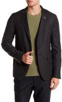 Gant Gray Two Button Notch Lapel Luxe Flannel Wool Blazer