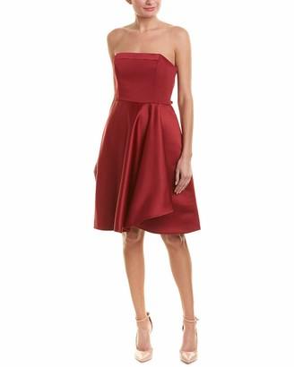 Halston Women's Strapless Dress with Flared Skirt