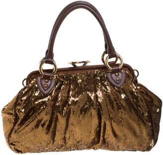 Marc Jacobs Gold Sequins New York Rocker Stam Shoulder Bag