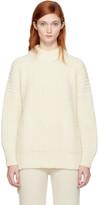 LAUREN MANOOGIAN Ssense Exclusive Off-white Fisherwoman Sweater