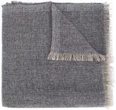Brunello Cucinelli herringbone fringed scarf