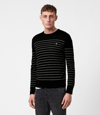AllSaints Mode Merino Stripe Crew Sweater
