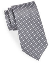 Black Brown 1826 Silk Polka-Dot Tie
