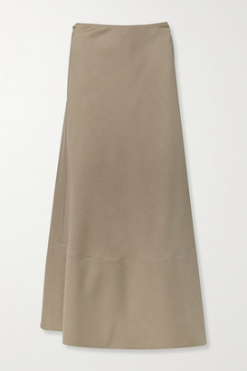 The Row Ava Mohair And Wool-blend Wrap Maxi Skirt - Light brown