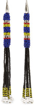 Isabel Marant Tassled Beaded Earrings - Blue