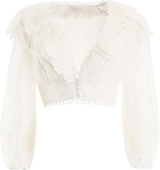 Zimmermann Cropped Top With Lace