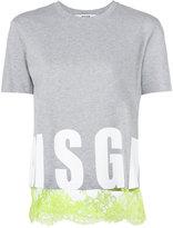 MSGM logo print T-shirt - women - Cotton - M