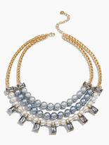 Talbots Pearl-Drop Bib Necklace