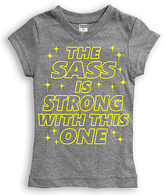 Urban Smalls Heather Gray 'The Sass Is Strong' Fitted Tee - Toddler & Girls