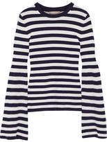 Michael Kors Striped Cashmere Sweater - Midnight blue