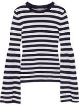 Michael Kors Striped Cashmere Sweater - Midnight blue