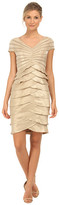 Adrianna Papell Cap Sleeve Shimmer Cocktail Dress