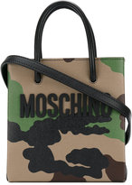 Moschino camouflage tote bag - women - Leather - One Size