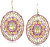 Miguel Ases Swarovski Oval Drop Earrings