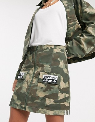 adidas RYV patch pocket skirt in camo