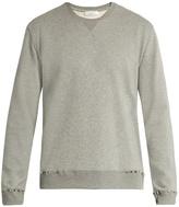 Valentino Rockstud-trimmed jersey sweatshirt