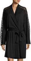 Cosabella Ritz Long-Sleeve Robe, Black