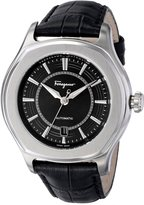 "Salvatore Ferragamo Men's FQ1010013 ""Lungarno"" Stainless Steel and Leather Automatic Self-Winding Watch"