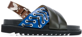Toga Pulla Crossover Strap Slingback Sandals