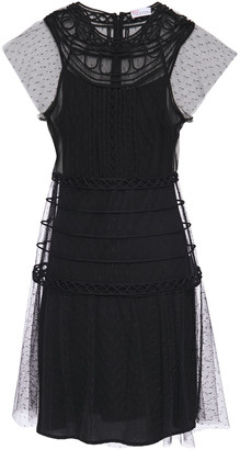 RED Valentino Layered Point D'esprit Mini Dress