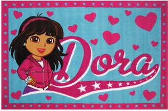 Fun Rugs Dora Framed Heart Rug