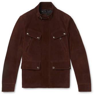 Belstaff Slim-Fit Suede Biker Jacket