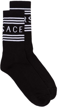 Versace Logo Stripe Socks