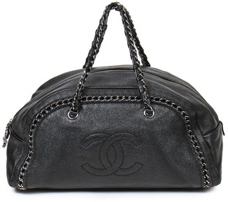 Chanel Black Caviar Leather Boston Bag