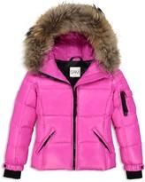 SAM. Girls' Fur-Trimmed Puffer Coat