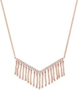 Bloomingdale's Diamond V Pendant Necklace with Fringe in 14K Rose Gold, .20 ct. t.w.