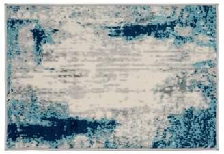 Blue Area Wrought Studio Distressed Contemporary Rug Wrought Studio