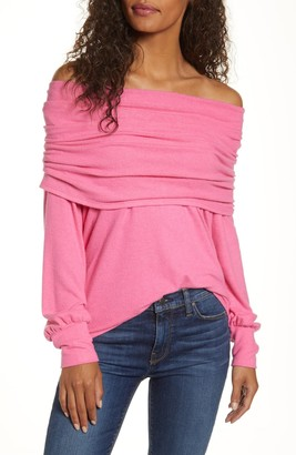 Gibson Cozy Fleece Convertible Neck Sweatshirt (Petite)