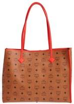 MCM 'Medium Kira Visetos' Coated Canvas Shopper - Brown